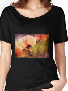 Poppy with Bumble Bee Women's Relaxed Fit T-Shirt