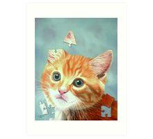 Cat Puzzle Art Print