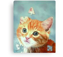 Cat Puzzle Canvas Print