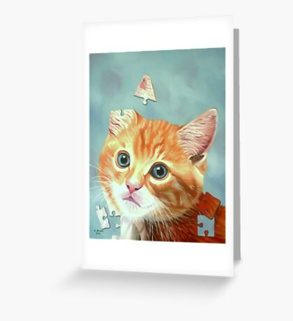Cat Puzzle Greeting Card