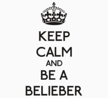 Keep Calm and be a Belieber (Black) T-Shirt
