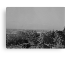 Wood View Point Over Birmingham Black And White Canvas Print