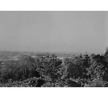 Wood View Point Over Birmingham Black And White Photographic Print