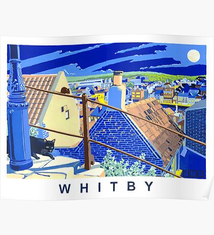 Whitby, Abbey steps Poster