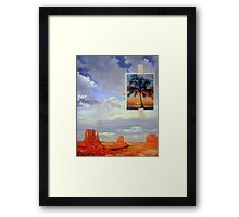 Desert Rainbow Caused by Floating Orbs Caused by a Photo Taped to the Scene Framed Print