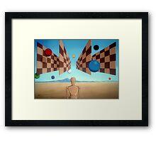 Geometric Witness Framed Print
