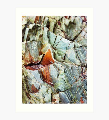 Rock layers Art Print