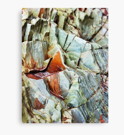 Rock layers Canvas Print