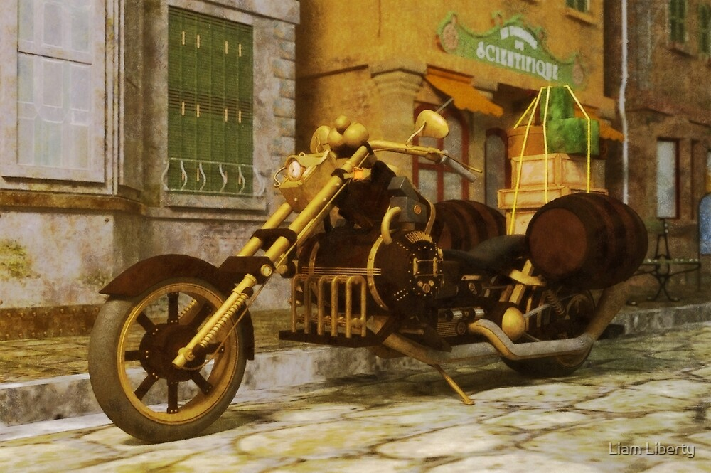 Steampunk Motorcycle by Liam Liberty