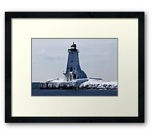 March Ice Framed Print