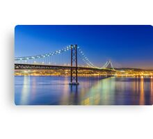 Nightly Lisbon Canvas Print