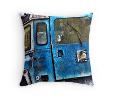 Old Land Rover Throw Pillow