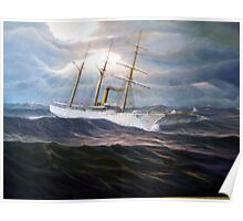 U. S. Coast Guard Academy Training Ship Chase Poster