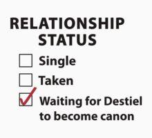 Relationship Status Destiel Shirt by HarmonyByDesign
