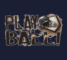 Play Ball Baseball Art Baby Tee