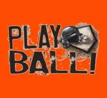 Play Ball Baseball Art Kids Tee