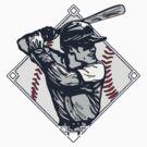 Classic Diamond Baseball Rocks Slugger by MudgeStudios