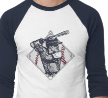 Classic Diamond Baseball Rocks Slugger Men's Baseball ¾ T-Shirt