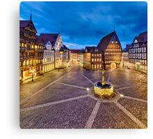 Historic old city of Hildesheim, Germany Canvas Print