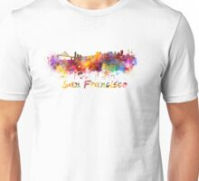 San Francisco skyline in watercolor Unisex T-Shirt