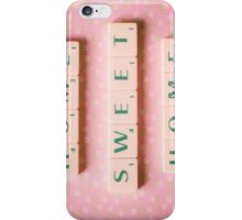 Home Sweet Home - Scrabble Tiles Photograph iPhone Case/Skin