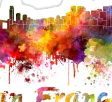 San Francisco skyline in watercolor Sticker