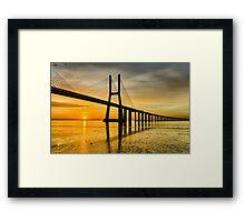 Lisbon Sunrise Framed Print