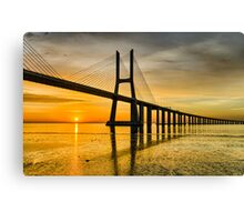 Lisbon Sunrise Canvas Print