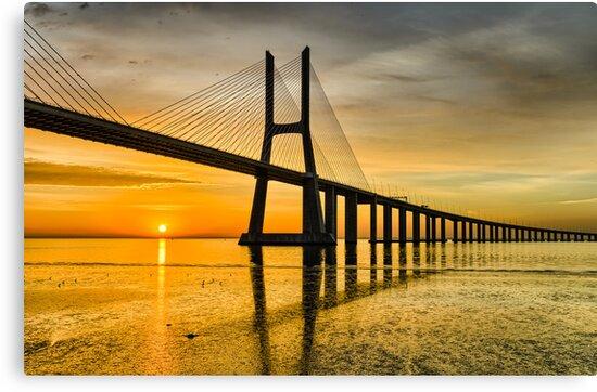 Lisbon Sunrise by Michael Abid
