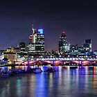 London Night Skyline by Michael Abid