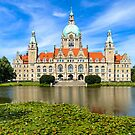 City Hall of Hannover in summer by Mapics