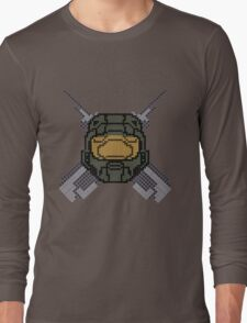 Halo - Pixl chief (centre) Long Sleeve T-Shirt