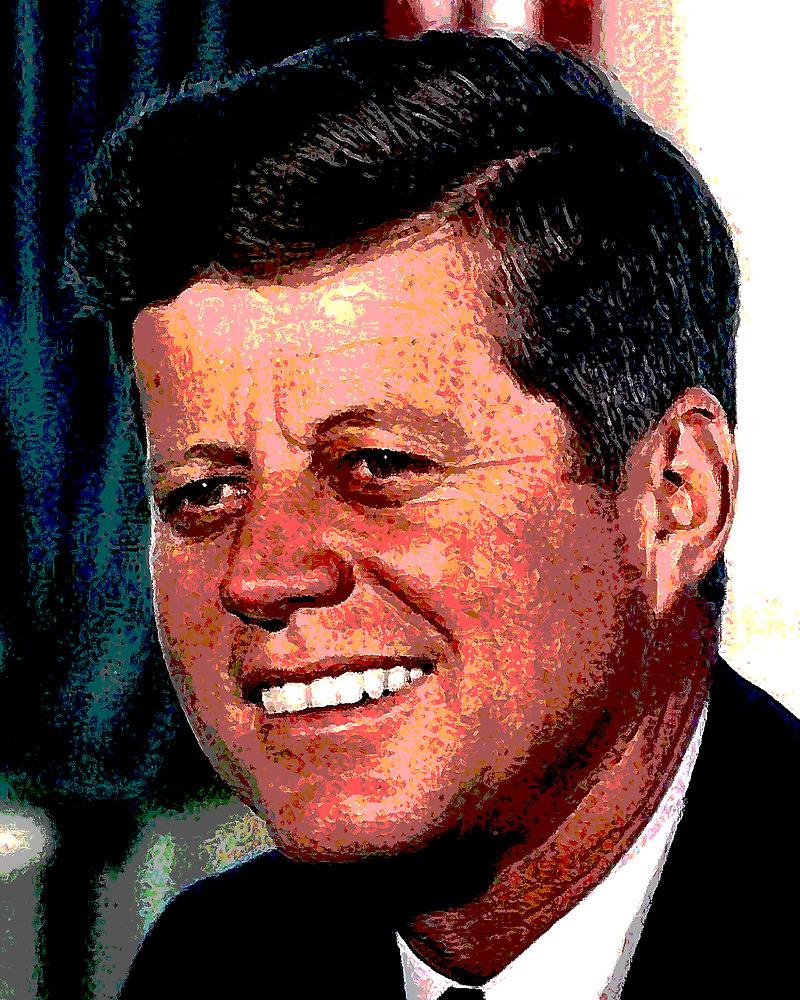 All The President's Heads #2 - JFK by Benedikt Amrhein