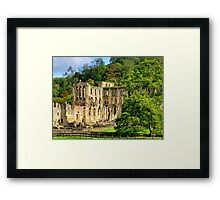 Rievaulx Abbey - HDR Framed Print