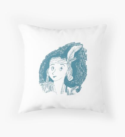 Flapper Girl Throw Pillow