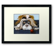 Bad Hair Day: PuffyButtons™ Puppy Alma Lee Framed Print