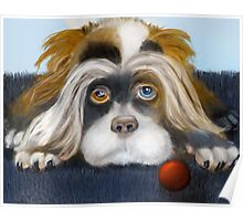Bad Hair Day: PuffyButtons™ Puppy Alma Lee Poster
