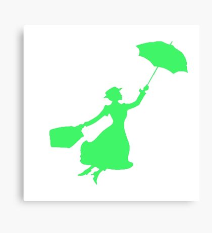 Green Miss Poppins  Canvas Print