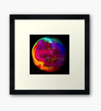 gas world Framed Print