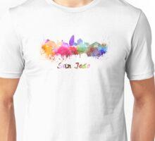 San Jose skyline in watercolor Unisex T-Shirt