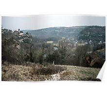 Castle on cliff over Dordogne nr Carennac 19840227 0053 Poster