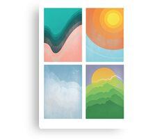 Water, Fire, Air, Earth Canvas Print