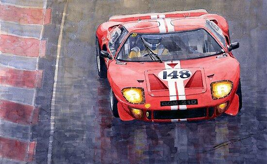 Ford GT 40 24 Le Mans  by Yuriy Shevchuk