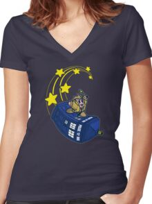 Dr. Kirby Women's Fitted V-Neck T-Shirt