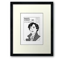 Sherlock - Benedict Cumberbatch - Drawing Framed Print