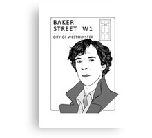 Sherlock - Benedict Cumberbatch - Drawing Canvas Print