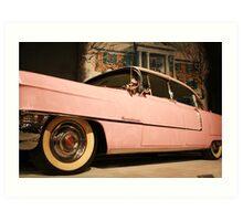Elvis' Cadillac  Art Print