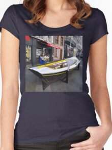 Granville, France 2012 - Reading Boat Women's Fitted Scoop T-Shirt