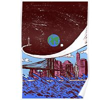 Silver Surfer finds Earth Poster