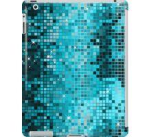 Blue-Green Metallic Sequence Look Geometric GlitterPattern iPad Case/Skin